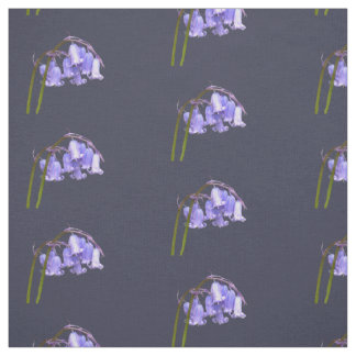 English Bluebell Flower Fabric