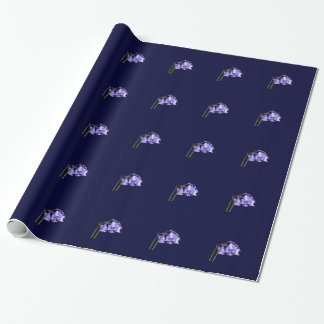 English Bluebell Flower Wrapping Paper