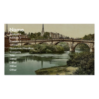 English Bridge Shrewsbury England classic Photoc Business Card Template