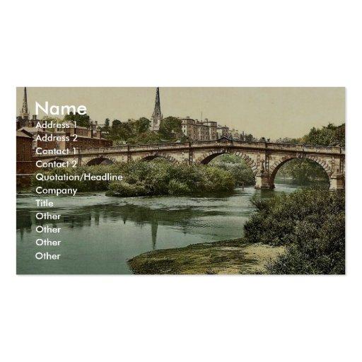 English Bridge, Shrewsbury, England classic Photoc Business Card Template