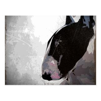 English Bull Terrier Art Postcard