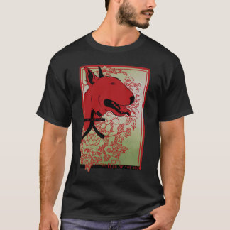 English Bull Terrier Asian Inspired Illustration T-Shirt