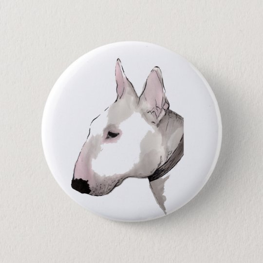 english bull terrier badge button