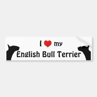 English Bull Terrier Bumper Sticker