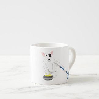 English Bull Terrier Curling Espresso Mug