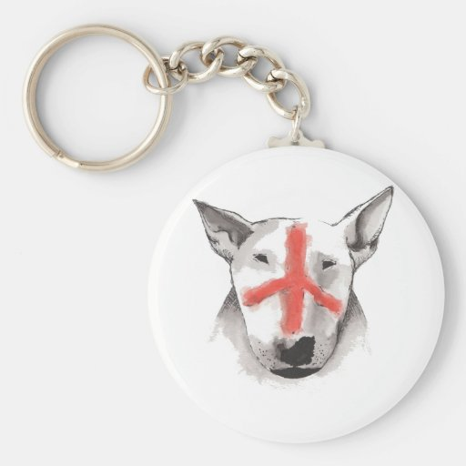 English Bull Terrier England Keychain
