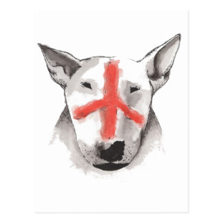 English Bull Terrier England Postcard