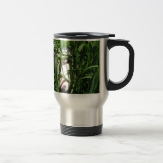 English Bull Terrier Hiding in the Grass Travel Mug