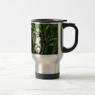 English Bull Terrier Hiding in the Grass Travel Mug