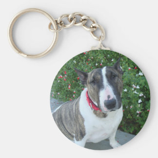 English Bull Terrier Key Ring