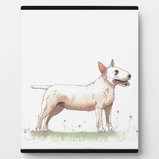 English Bull Terrier Photo Plaque