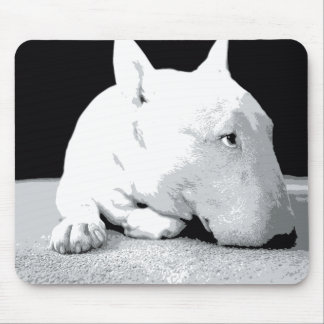English Bull Terrier, Pop Art Print Mouse Mat