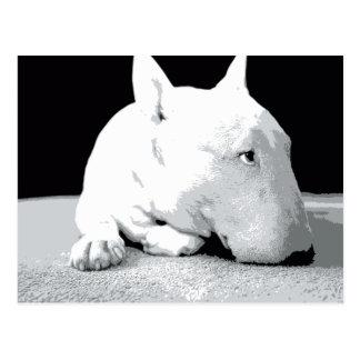 English Bull Terrier Pop Art Print Postcards