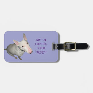 English Bull Terrier Sitting Pretty Luggage Tag