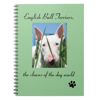 English Bull Terrier the Clowns of the Dog World Spiral Notebook