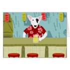 English Bull Terrier Tiki Bar Card