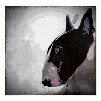 English Bull Terrier, urban contemporary dog art Poster