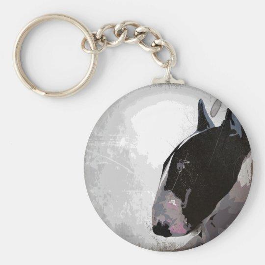 English Bull Terrier urban style keyring keychain