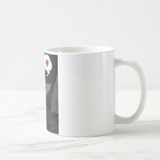 english bull terrier valentine basic white mug