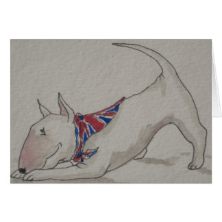 English Bull Terrier - Welcome Home Greeting Card