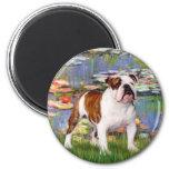 English Bulldog 5 - Lilies Magnet
