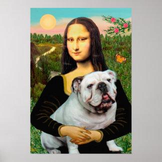 English Bulldog 9 - Mona Lisa Poster