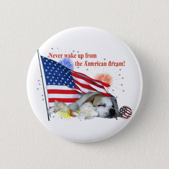 English Bulldog – American Dream 6 Cm Round Badge