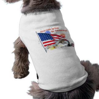 English Bulldog – American Dream Sleeveless Dog Shirt