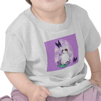 English Bulldog and Butterflies T-shirts