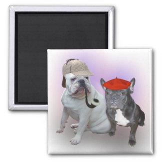English Bulldog and French Bulldog Magnet