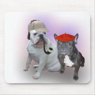 English Bulldog and French Bulldog Mouse Mat