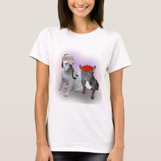 English Bulldog and French Bulldog T-Shirt