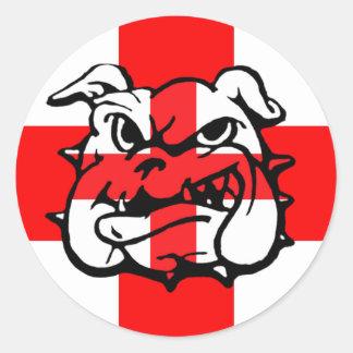 English Bulldog awesome English Round Sticker