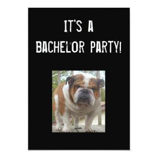 English Bulldog Bachelor Party Invitations