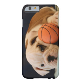 English Bulldog Basketball Puppy Barely There iPhone 6 Case