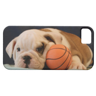 English Bulldog Basketball Puppy Barely There iPhone 5 Case