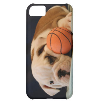 English Bulldog Basketball Puppy iPhone 5C Cases