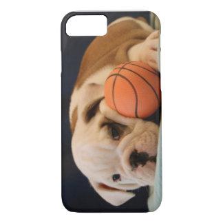 English Bulldog Basketball Puppy iPhone 7 Case