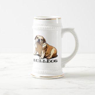 English Bulldog Beer stein