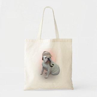 English bulldog budget tote bag