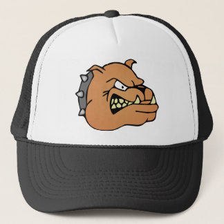 English Bulldog Cartoon Trucker Hat