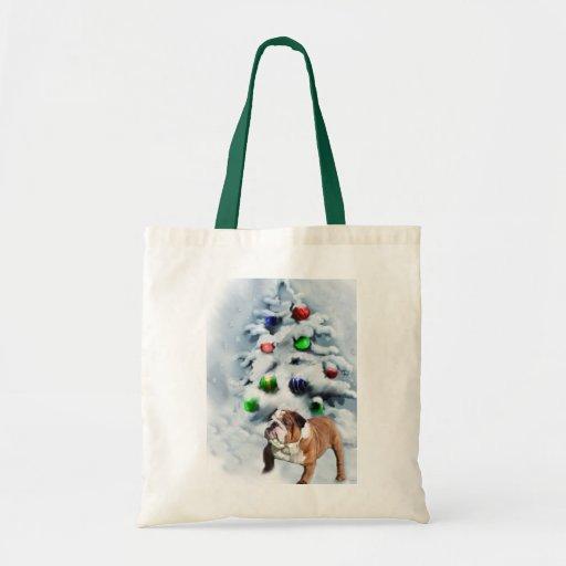 English Bulldog Christmas Gifts Budget Tote Bag
