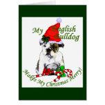 English Bulldog Christmas Gifts Greeting Card