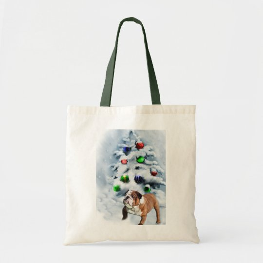 English Bulldog Christmas Gifts Tote Bag