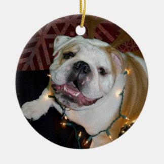 English Bulldog Christmas ornament