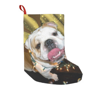 English bulldog Christmas stocking