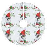 English Bulldog Christmas Brushed Polyester Tree Skirt