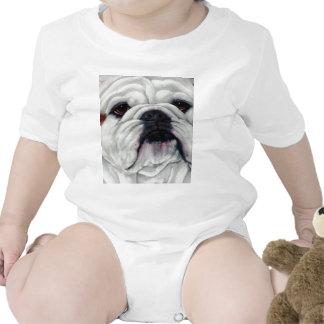 English Bulldog Close and Personal Baby Bodysuit
