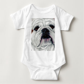 English Bulldog Close and Personal Baby Bodysuit