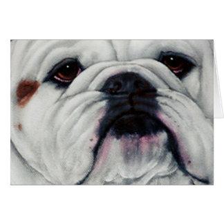 English Bulldog Close and Personal Greeting Card